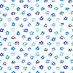 Watercolor christmas seamless pattern.  set for scrapbook and design.
