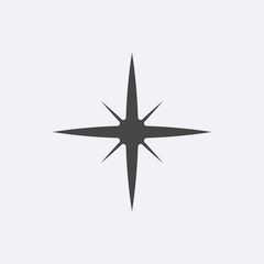 Gray Star icon isolated on background. Modern simple flat favori