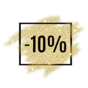 10 percent off discount promotion tag.