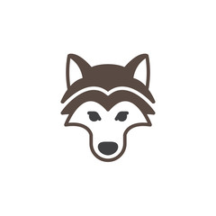 Wolf head icon vector, filled flat sign, solid colorful pictogram isolated on white. Symbol, logo illustration