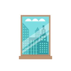 Room window flat illustration