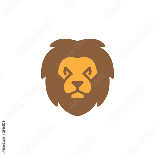 Lion head icon vector, filled flat sign, solid colorful pictogram isolated on white. Symbol, logo illustration