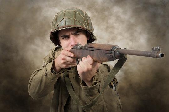 American soldier ww2 attack