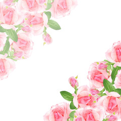 Beautiful floral pattern of pink roses