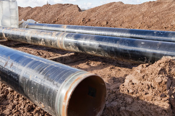 pipes with polymeric insulation is designed for installation in a trench during the construction of the pipeline