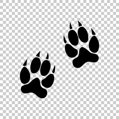 animal tracks icon. Black icon on transparent background.