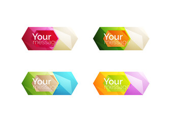 Set of vector shiny blank boxes for your content