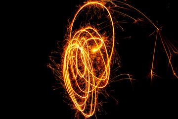 fireworks and celebrating