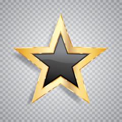 one gold black star