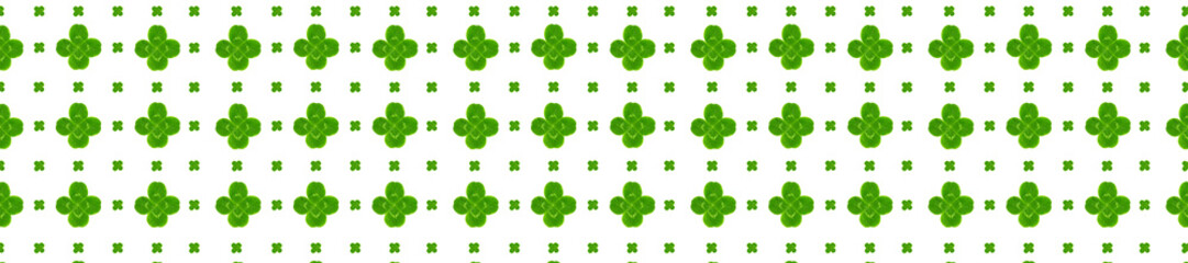 panorama leaves clover trefoil shamrock  pattern