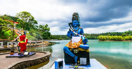 Landmarks of Mauritius - Grand bassin hindu temple on the lakeside