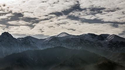 Clouds over the Polish Tatra mountains
