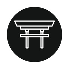 Japan torii icon  isolated on white background