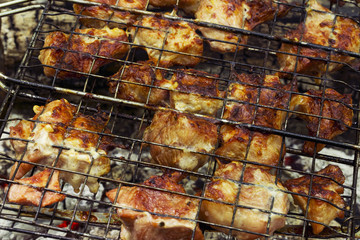 barbecue cooked on grill