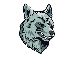 Angry Dog Breed Character Logo - Siberian Husky