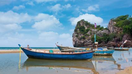 Fishing boat travel Island