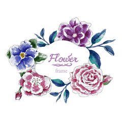 Flower frame background hand draw background flowers
