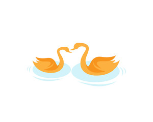 Modern Dental Logo Symbol - Swan Formed a Teeth Symbol
