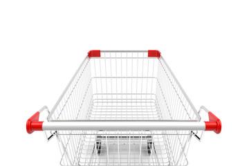 Shopping cart isolated on white background. 3D illustration