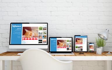 multidevice desktop influencer
