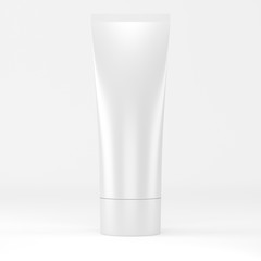 white tube for cosmetic - 3d illustration