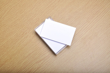 blank mockup business card for branding and logo printing with casing.
