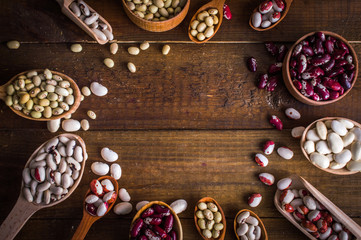 beans on a wooden table