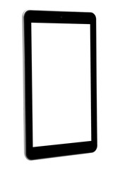 Tablet white front left side horizontal screen