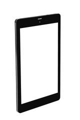 Tablet black business front straight left side