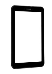 Tablet device black front straight