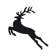 Reindeer on a white background.Icon for Christmas.