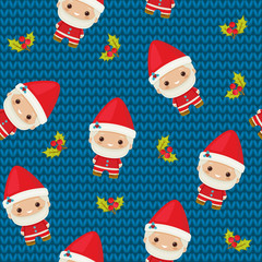 Christmas seamless pattern with Santa Claus.