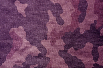 Textile camouflage cloth pattern.