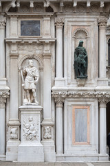 Sculpture and decoration of the courtyard of the Doges Palace