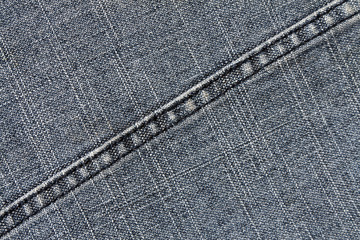 Blue jeans cloth texture with stitch.