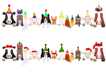 party farm animals border set