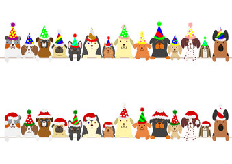 party dogs border set