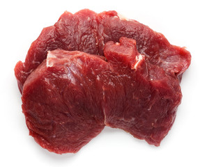 Fresh raw beef meat slices isolated over white background, Food, bifsheks, meat, beef.