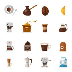 Barista Coffee Icon Set