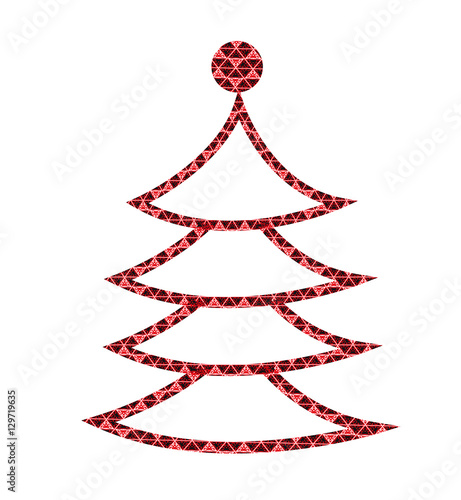 vector illustration of a stylized christmas tree, albero di natale