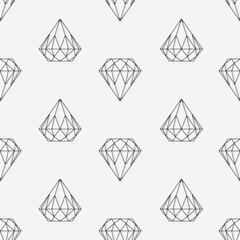 Diamond seamless pattern.