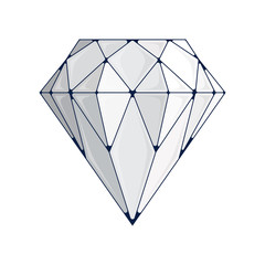 Diamond vector icon.