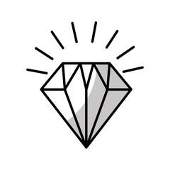 diamond flat isolated icon vector illustration design
