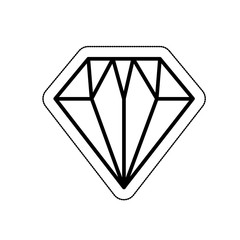 diamond flat isolated icon vector illustration design