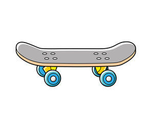 Skateboard isolated.