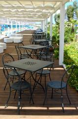 restaurant table outside