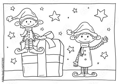 Ausmalbild Rahmen Weihnachten Stockfotos Und Lizenzfreie Bilder Auf