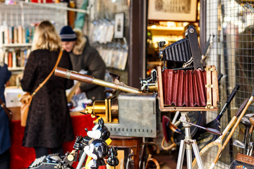 Portobello market in winter