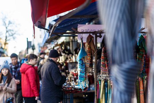 Portobello market in winter