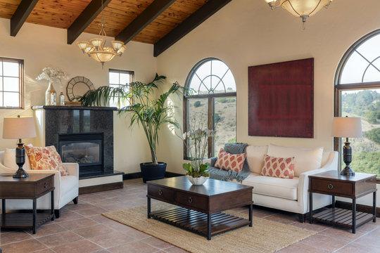 Mediterranean Living room Interior